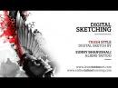 Digital Sketch - Trash Polka style digital drawing using Photoshop for Forearm Tattoo