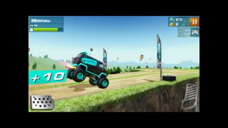 Monster Trucks Racing With tentacles car game video android gameplay