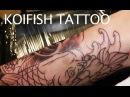 รอยสักปลาคาร์ฟ ช่างมิ้ม Koifish leg tattoo