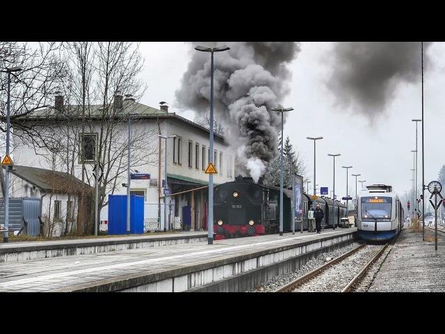 Wow - was für eine Ausfahrt !! Dampflok 70 083 und Integral der BOB in SchaftlachOberbayern