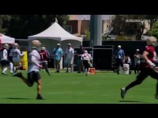 Camp Highlight Lorenzo Jerome Grabs an Int