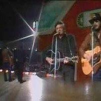 Johnny Cash with Hank Williams Jr.