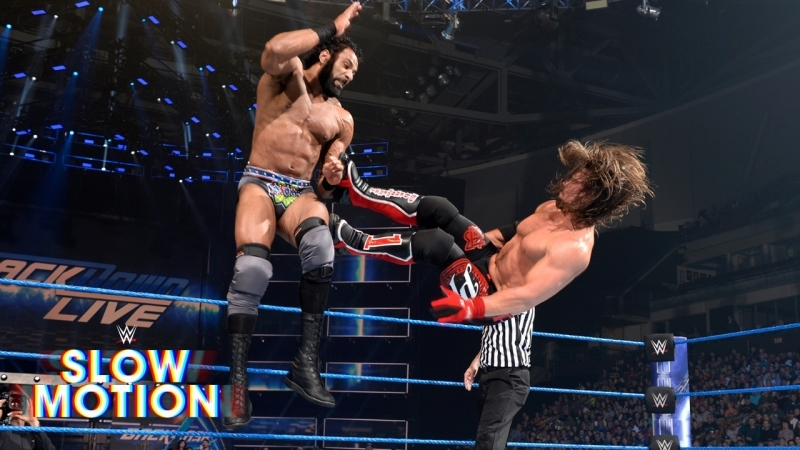]WWE QTV[☆]AJ Styles and Jinder Mahals SmackDown showdown unfolds in[slow-motion]]☆[Слоу Моушен]☆[