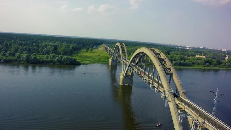Полёт Сартаковский железнодорожный мост и пруд в Ефимьево. Нижний Новгород