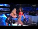 WWE.Smackdown.Live.2017.02.21.   Natalya vs Nikki Bella Falls Count Anywhere Match