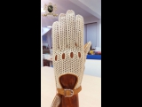 Private custom order hand woven motorcycle leather gloves by NOOLDERS