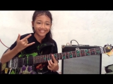 Canon Rock by Jerry C cover Ayu gusfanz 10 years Old from Indonesia