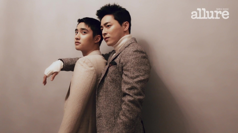161118 Do Kyungsoo x Jo Jungsuk Allure Magazine Photoshoot