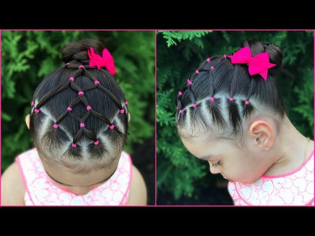 Peinado para niñas la maya con coleta  Peinados faciles y rapidos para niñas]LPH