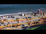 Крым. Алушта сегодня вечером (04.06.2017) - пляжи и набережная
