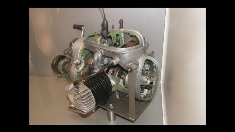 MZ BK 350 Motor Schnittmodell 2-Zylinder Zündung Getriebe BVF Vergaser Schnittmotor DDR IFA