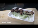 Street food D grilled meat Russian street food