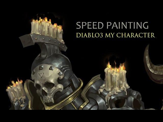디아3 자캐 스피드페인팅/ diablo3 my character speed painting