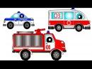 Мультики про машинки Пожарная машина, Скорая помощь, Полицейская машина. Пожар. ...