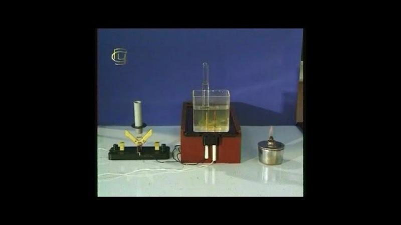 Опыты по химии. Разложение воды электрическим током