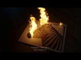 Zebra made with Gun Powder