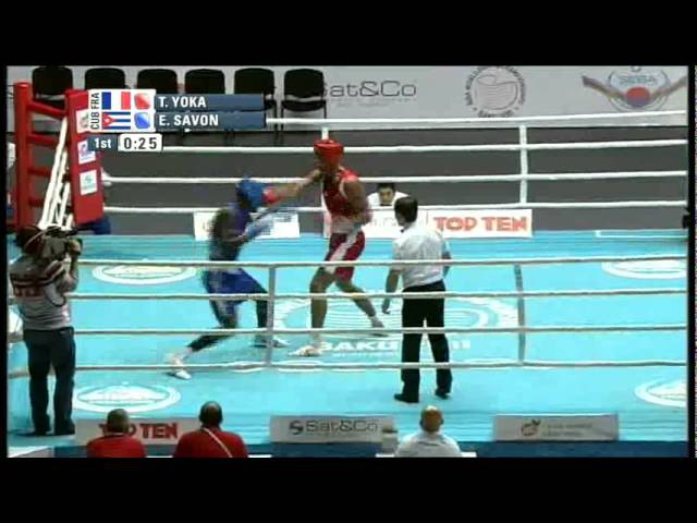 Super Heavy (91kg) R16 - Yoka Tony (FRA) vs Savon Erislandy (CUB) - 2011 AIBA World Champs