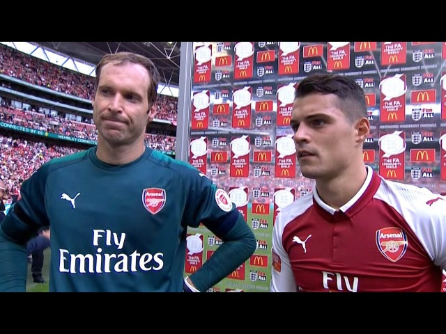 Arsenal 1 1 Chelsea Arsenal Win On Pens Petr Cech Granit Xhaka Post Match Interview