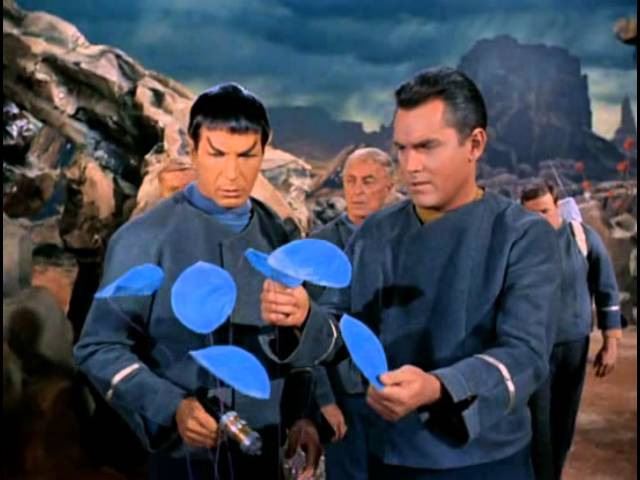 Spock smiles (Star Trek: Original Series - ep. The Cage)