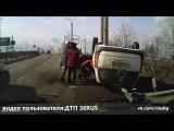 ДТП  Иркутск, ул  Сурнова 27.03.2016 Пьяный водитель перевернулся на  Toyota Succeed