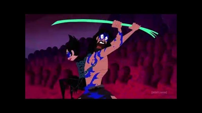 Jack fights The Anti-Monster Horde (and Ashi) - Samurai Jack S5E4