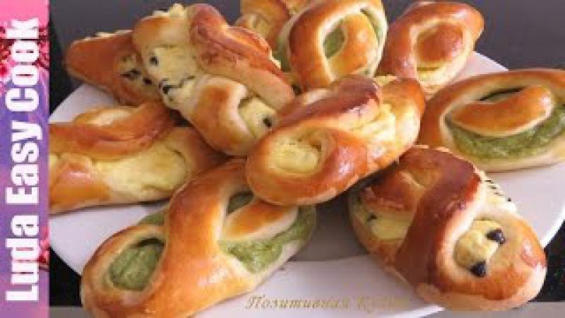 БУЛОЧКИ с ТВОРОГОМ Вкусные и Нежные - Cottage Cheese Buns recipe - Bánh Phô mai Tươi LudaEasyCook » Freewka.com - Смотреть онлайн в хорощем качестве