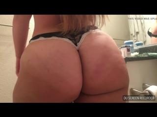 Princesspawg - big butt thong brushing teeth hd - big ass butts booty tits boobs bbw pawg curvy mature milf