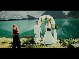 Выездная свадебная регистрация на одном из озер Красной Горы!