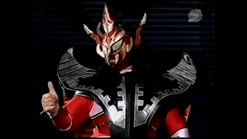 El Samurai, Jushin Thunder Liger vs. Super Delfin, Takehiro Murahama (Osaka Pro - 2nd Anniversary Spicy Series 2001)