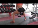 Фитнес упражнения для ягодиц: Приседания с гантелей