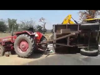 Трактор убежал