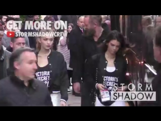 Gigi hadid, kendall jenner and the victoria s secret angels покидают отель [the gigi hadid dom]