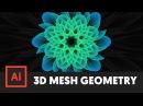 3D Geometric Mesh Tool Adobe Illustrator Tutorial