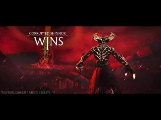 Mortal Kombat XL - Corrupted Shinnok Victory Pose 'Head Toss' on All Character - Fighters - NPCs