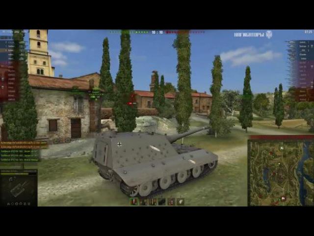 World of Tanks 10,7К дамага на Jagdpanzer E 100, Монастырь - Стандартный бой