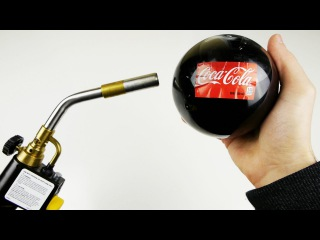 Popping Glass Coca-Cola Ball with Gas Torch - What Will Happen?