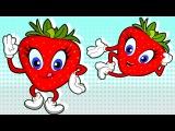 Strawberry Fruit Song - Nursery Rhymes for Children Chikaraks