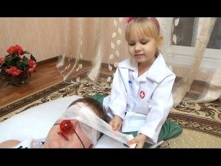 Доктор Алиса спасает Лёву Развлечение для детей Играем в больничку
