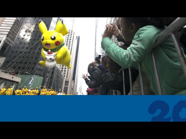 Celebrate Pokemon20 with the Pikachu Balloon at the 2016 Macy's Thanksgiving Day Parade!