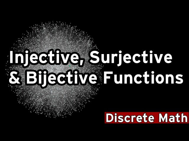 [Discrete Math 1] Injective, Surjective, Bijective Functions