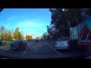 Девушка наехала на пешеходов после столкновения с автобусом