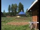 Житель Курагинского района построил круглый дом из берёзовых чурок