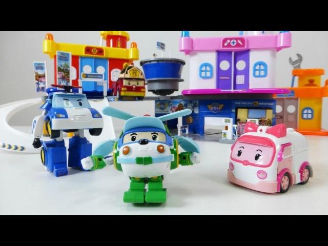 Les Robocars - Helly visite son frère. Vidéo éducative pour les enfants