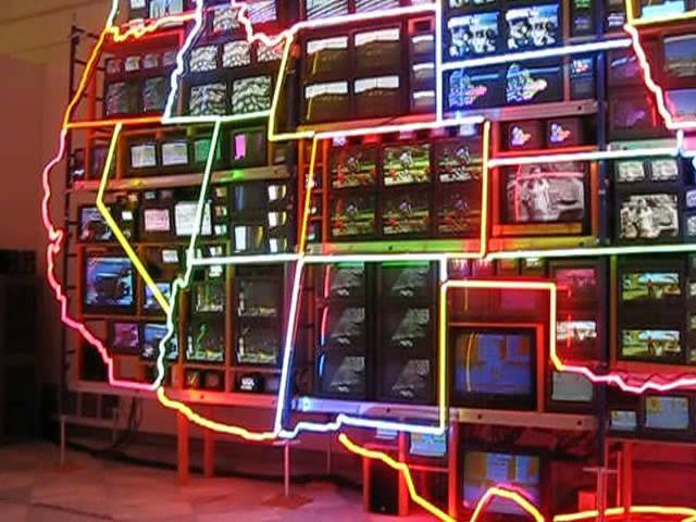 Electronic Superhighway, by Nam June Paik