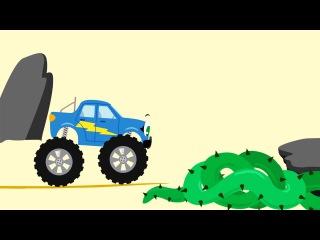 БИБИКА - Животные Австралии - Мультики про машинки и животных для детей