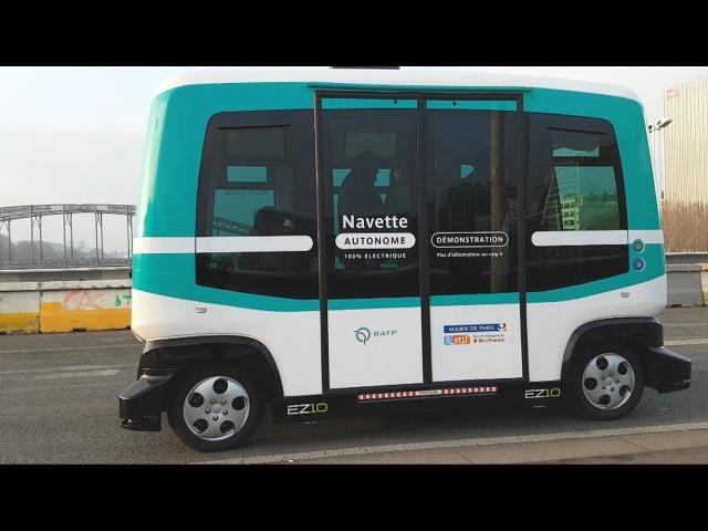 Paris inaugure sa mini-ligne de navette autonome