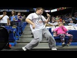 Kid Started DANCING Like No One's Watching during Basketball Game &amp STOLE THE SHOW- A Born Artist!!!