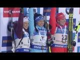 Нове-Место 2016. Спринт (ж). Церемония награждения Акимова, А.Шевалье и Данкли