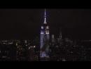 Трансляция легендарных съемок Harper's Bazaar на Эмпайр-стейт-билдинг в Нью-Йорке