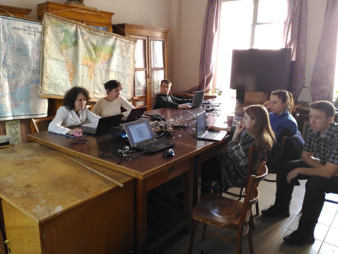 Участники мастер-класса по nextgis в ХНУ им.В.Н. Каразина